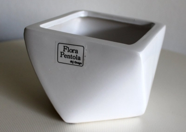 Plant box - Plant pot white conical 9cm high