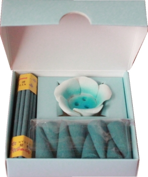 Complete Wellness Duftset Incense as a gift idea with incense holder and various incense (scented jasmine or ocean)