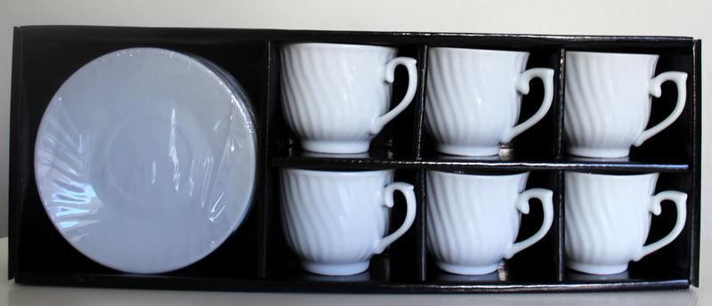 espresso tassen set weiss in transparenter geschenkbox wichteln originelle geschenke. Black Bedroom Furniture Sets. Home Design Ideas