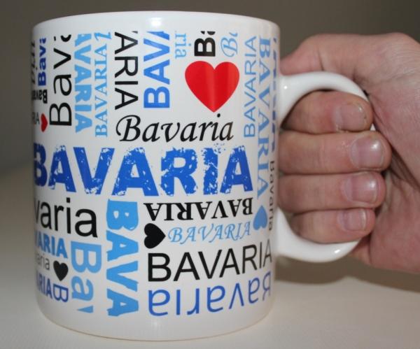 I LOVE BAVARIA XXL-Becher als Präsent und Geschenk